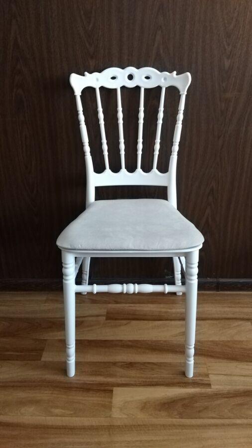 Банкетный стул с мягкой подушкой донна, белый, пластиковый