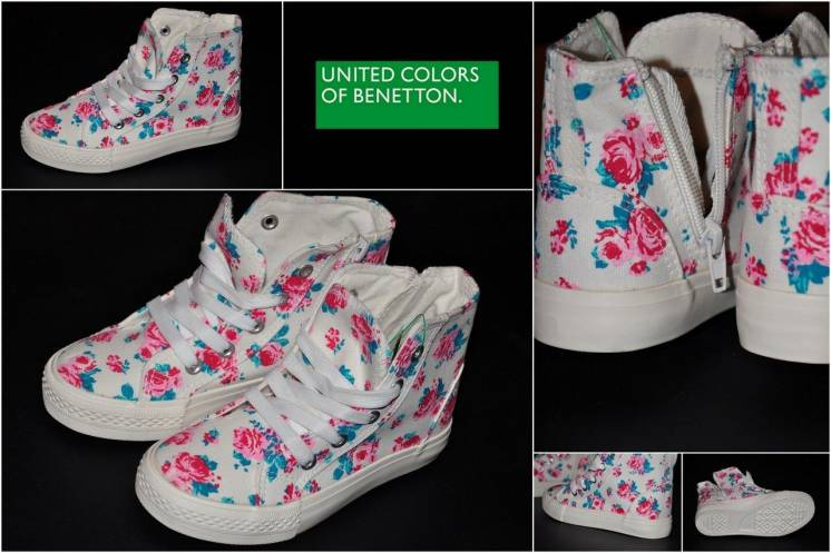 """Фирменные Кеды """"BENETTON"""" для юных модниц. Размер - 29, 30. Новые."""
