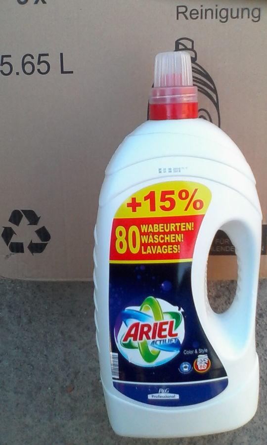 Гель для стирки Ariel 5, 65 литра на 80 стирок.