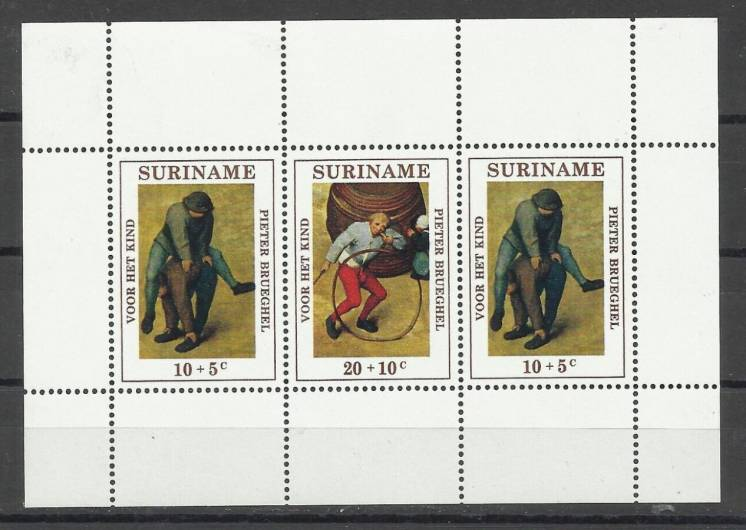 Продам марки Суринама  1971  Брейгель
