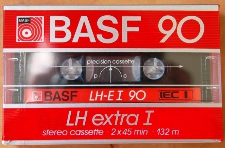 Редкая винтажная кассета BASF LH extra I 90 USA