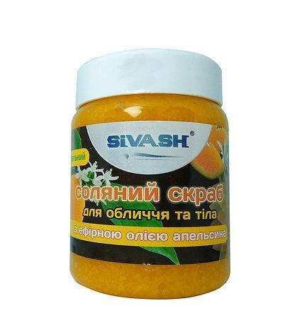 Солевой Скраб Сиваш для лица и тела с эфирными маслами апельсина