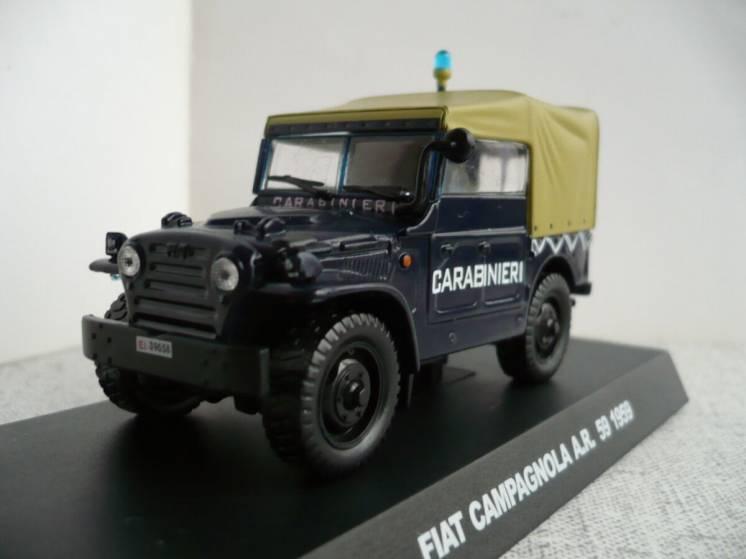 Fiat Campagnola AR59–Модель 1/43 Полицейские машины мира-Спецвыпуск №1
