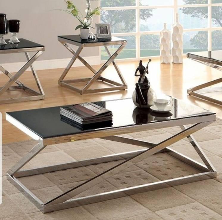 Дизайнерский столик для прихожей с нержавеющей стали
