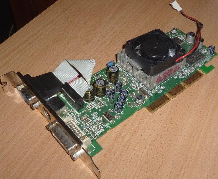Продам видеокарту Sapphire Radeon 9200 SE Atlantis 128Mb AGP