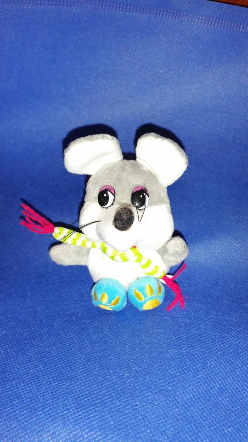 Мышка крыса мягкая игрушка брелок сувенир талисман