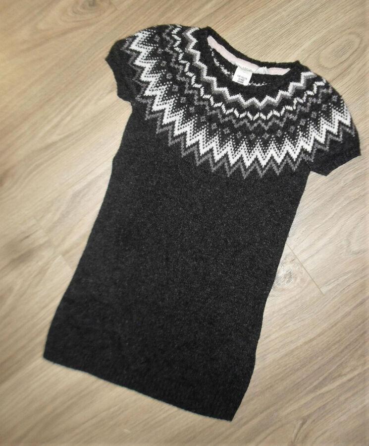 Теплое платье - сарафан на 4-6лет