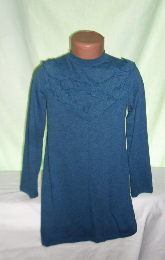 Платье трикотажное с рукавом на 6лет