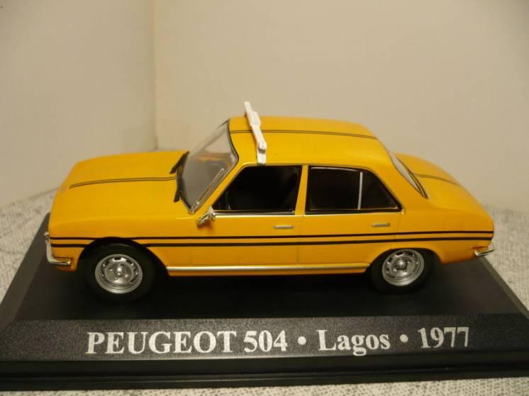 Peugeot 504 такси - Модель 1/43 Altaya