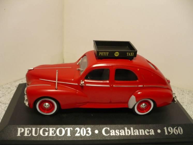 Peugeot 203 такси - Модель 1/43 Altaya