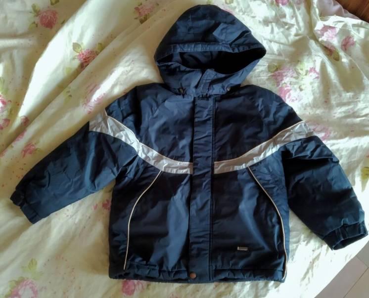 Термо куртка Lenne, р. 128, евро зима, темно-синяя.  удобная, легкая