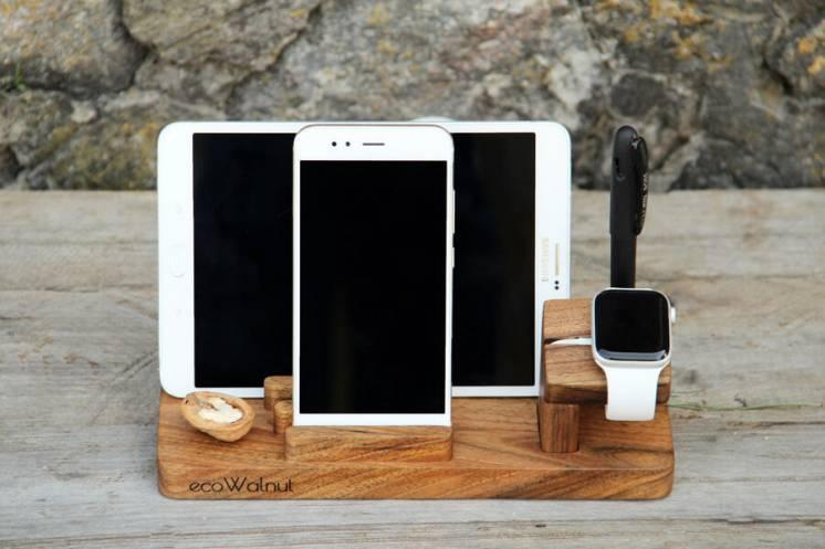 Подставка на рабочий стол для телефона планшета ручек часов iWatch