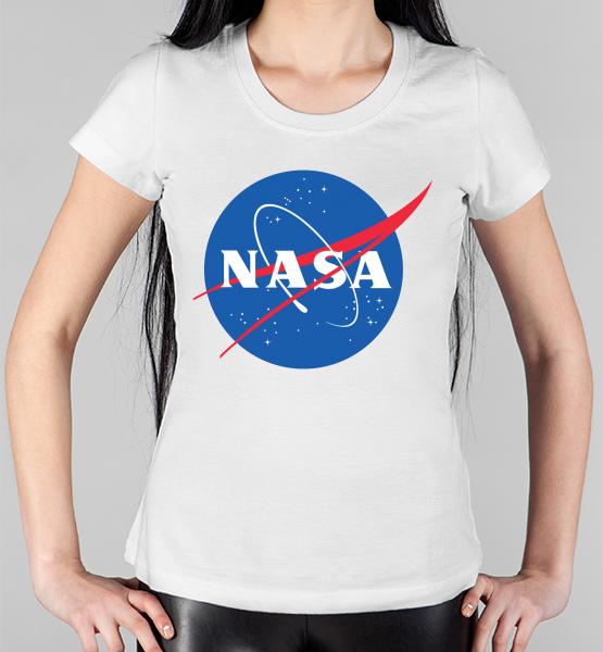 """Женская футболка Pish It с надписью """"NASA"""""""