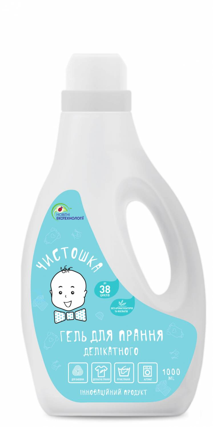 Гель для прання Делікатного (концентрат) 1л. - 38 цикли  ТМ Чистошка