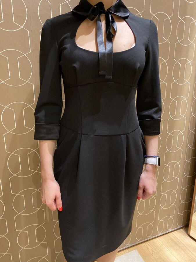 Шикарное новое черное платье S-M