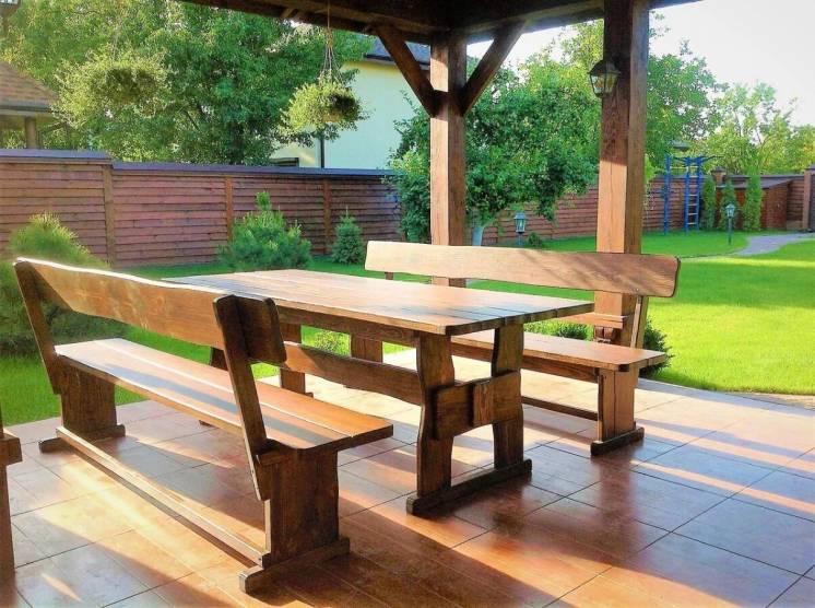 Мебель из дерева для дачи, дома, комплект деревянный 2200*800