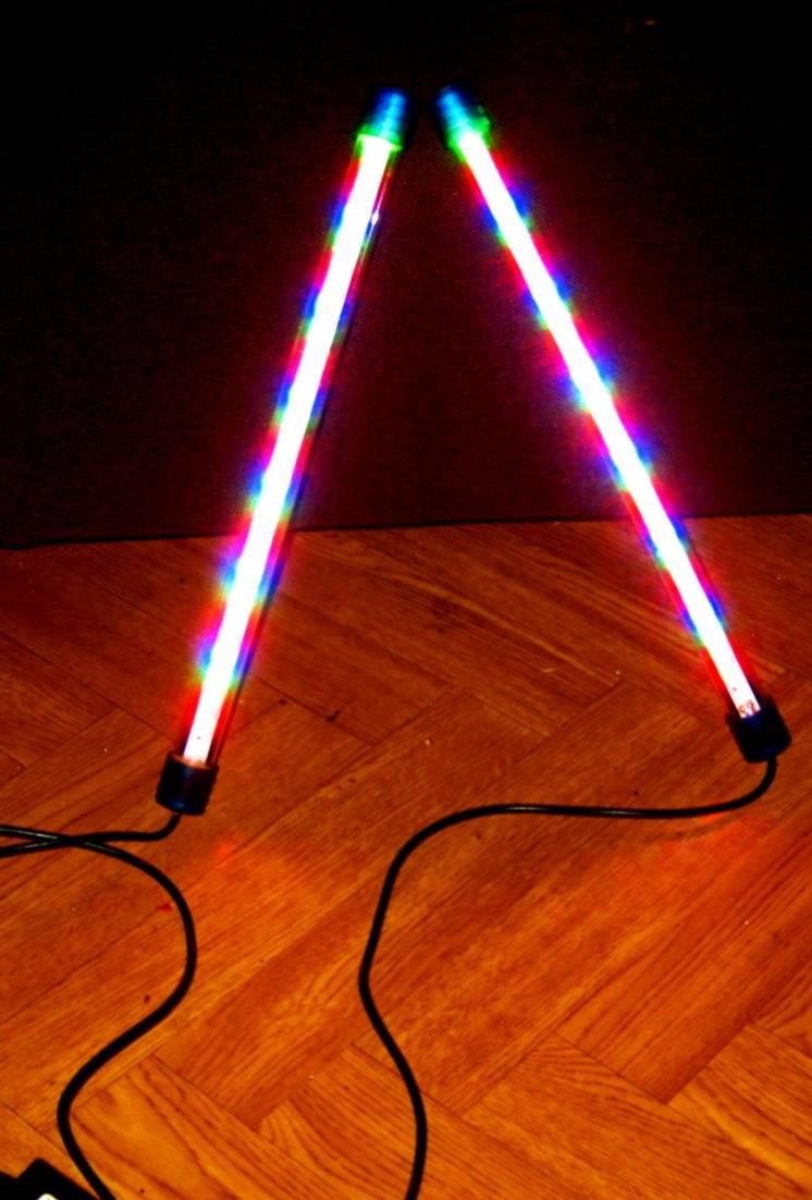 Лед (led) лампа RGB с адаптером