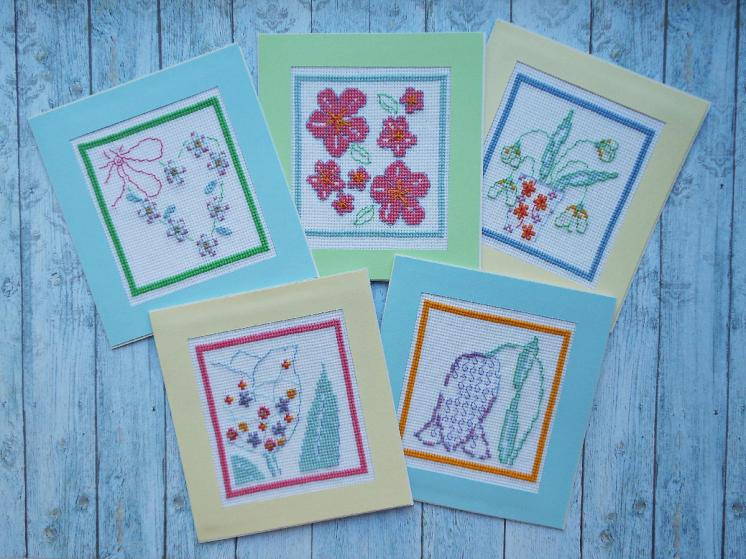 Открытки ручной работы с вышивкой цветы