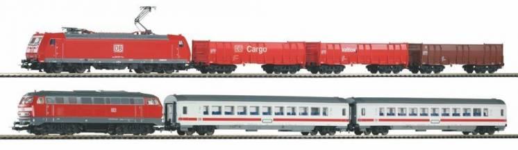 Железная дорога Piko Пико 59013 пассажирский и грузовой составы