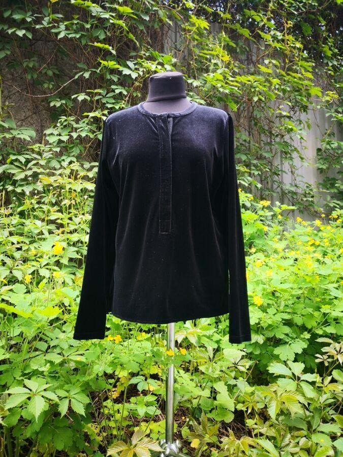 Блуза Ralph Lauren ( Ральф Лорен ), оригинал, бархат стрейч, черный.
