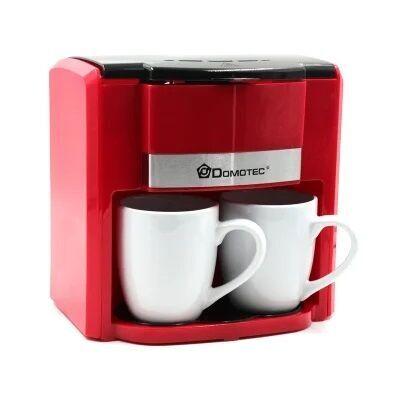 Кофеварка капельная красная + 2 чашки