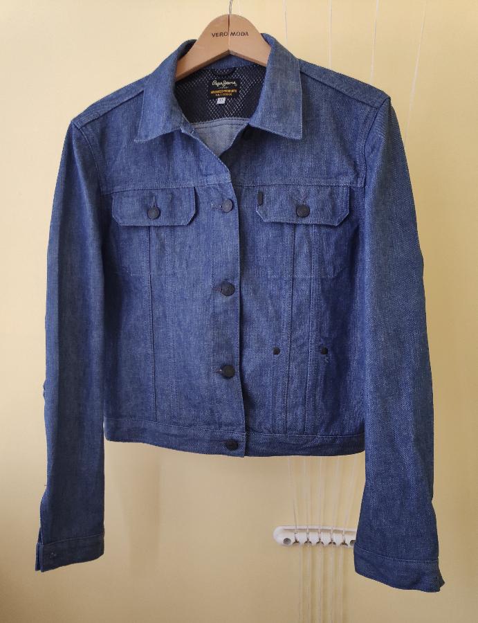 Женская джинсовая оверсайз oversize куртка Pepe Jeans