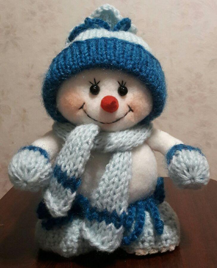 Снеговичок ручной работы