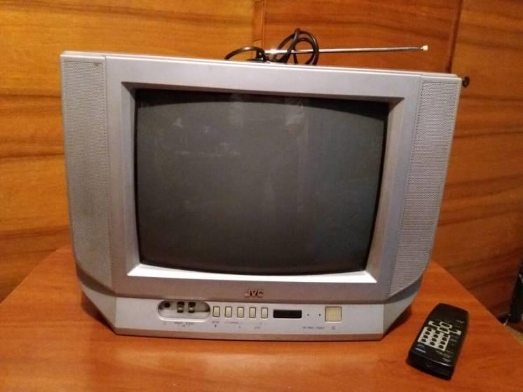 Телевизор JVC AV-14F4EE (под восстановление или на запчасти).