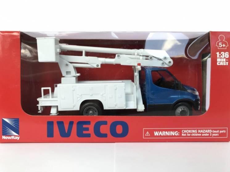 Грузовик автомобиль IVECO DAILY автовишка 1:36 New Ray игрушка 1:43