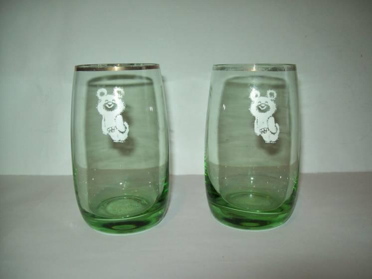 Стаканы стакан олимпийский мишка олимпиада 80 СССР