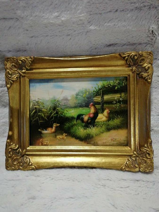 """Картина """"Скотный двор""""-Клод Гильминет"""