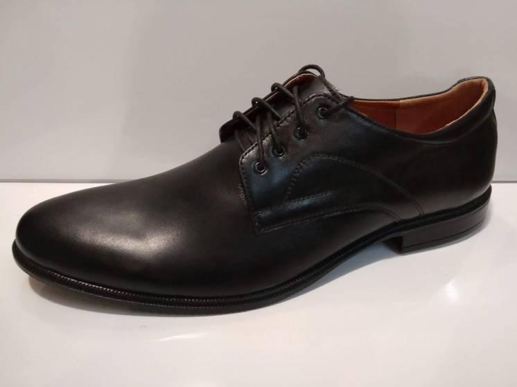 Туфли мужские классические модельные на шнурках натуральная кожа