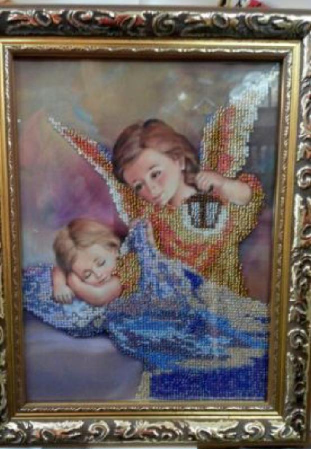 """Картина """"Ангел"""" вышитая бисером"""