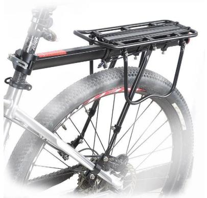 Вело багажник консольный алюминиевый  с упором на перья 0302