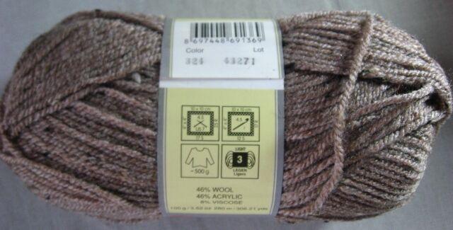 пряжа шерсть 60 твид, 100 грамм, alize alpaca tweed коричневая