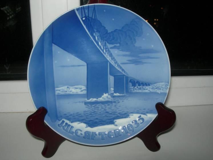 Коллекционная тарелка, Рождество, Дания, 1935 год