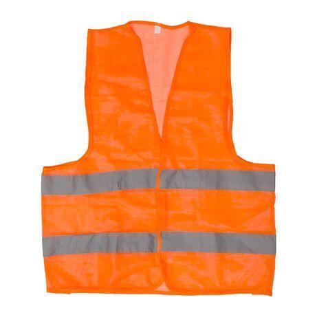Жилет сигнальный оранжевый XXL (62*70см), 100 гр/м2 INTERTOOL