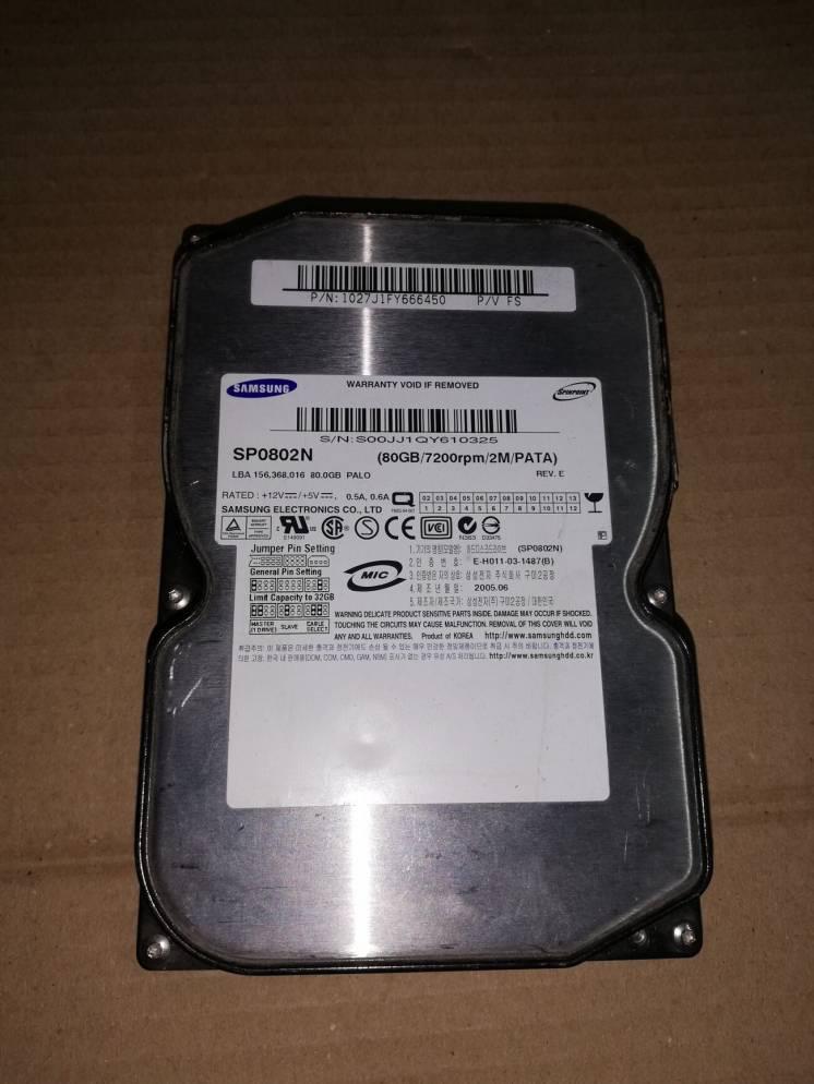 Жесткий диск Samsung Sp0802n 80gb