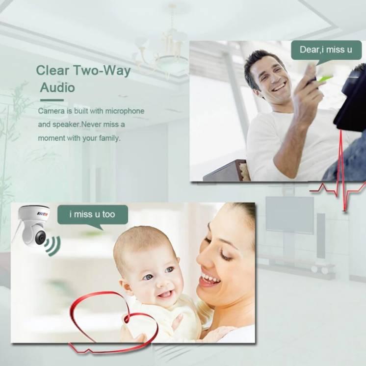IP WI-FI поворотная камера видеонаблюдения FULL HD 1080