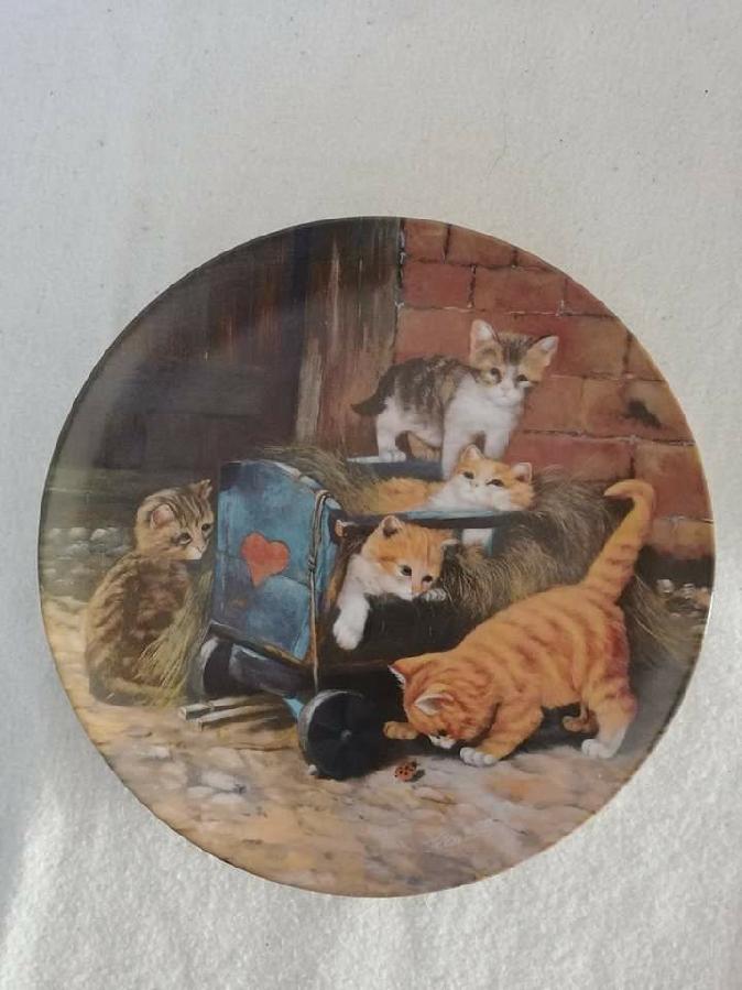 """Коллекционная тарелка""""Игривые котята"""""""