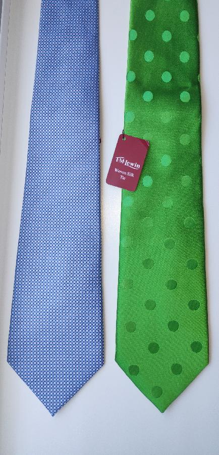 Новые шелковые галстуки ручной работы TM Lewin