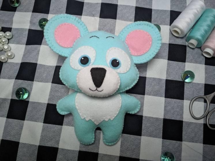 Мягкие игрушки Коала из фетра