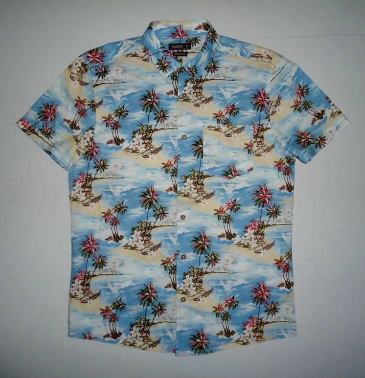Рубашка гавайская Peacocks Regular Fit гавайка M