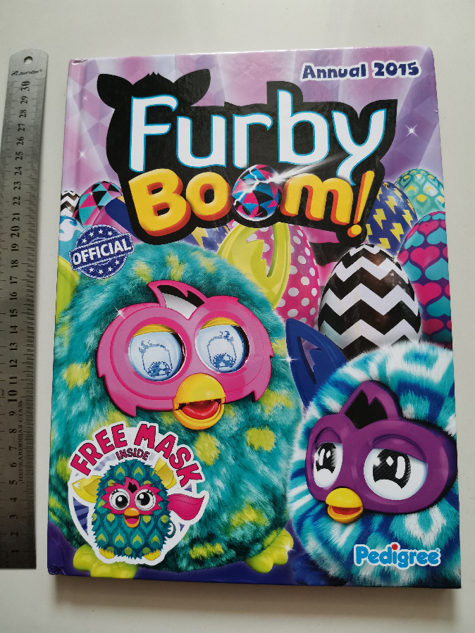 Книга Furby Boom с заданиями книжка на английскгм языке комикс