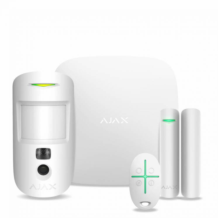 Стартовый набор  Комплект  системы безопасности Ajax StarterKit Cam (w