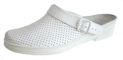 Сабо кожаные женские, мужские, белые, черные, медицинская обувь