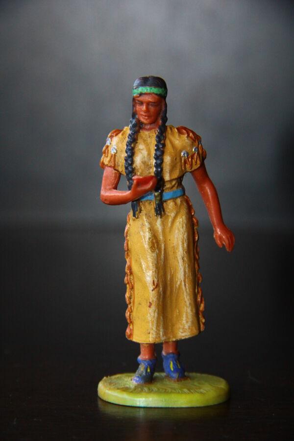индеец индианка скво ELASTOLIN 70мм ФРГ
