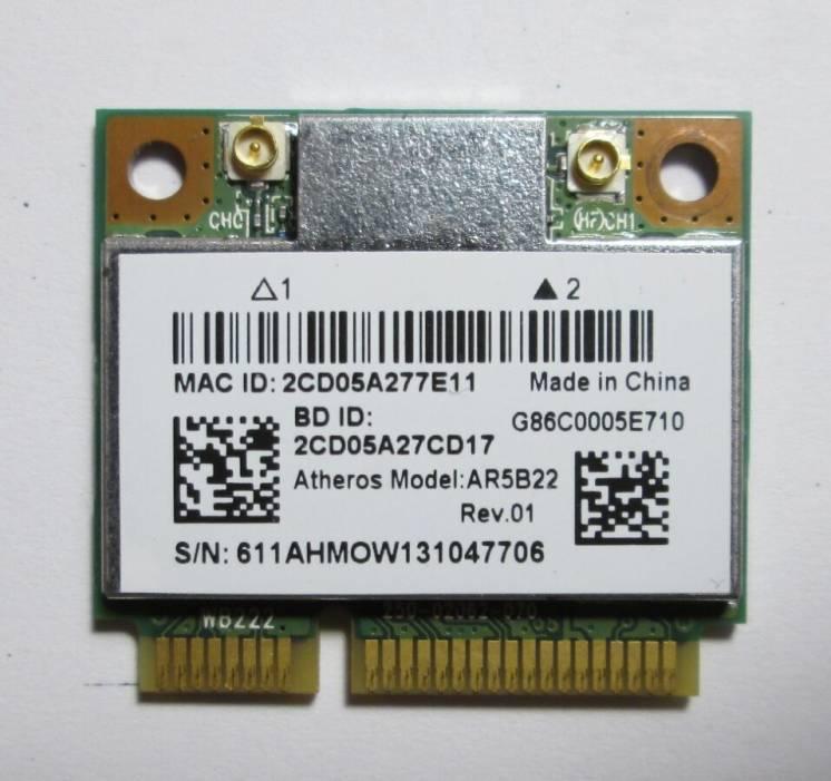 Wi-Fi 5 ГГц Atheros AR5B22 модуль с Bluetooth Half mini PCI-E Win10