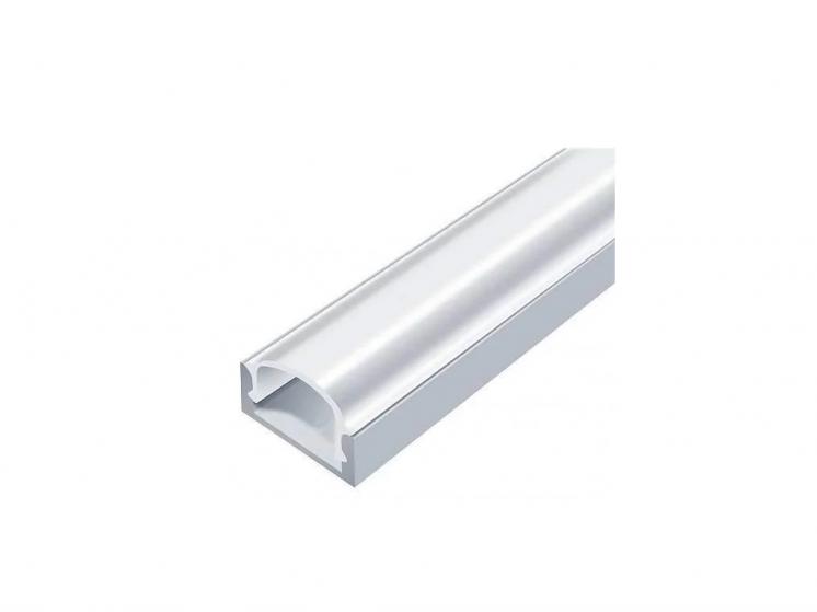 Профиль для светодиодной ленты ЛП7 неанодированный с рассеивателем