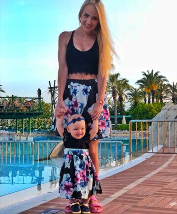 Family Look платье Мама Дочка  Лето Цветочный принт